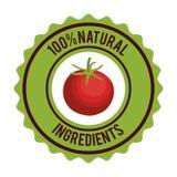 Organic product guaranteed seal Stock Photo