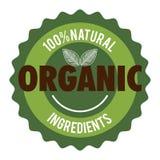 Organic product guaranteed seal Stock Image