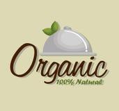 Organic product guaranteed seal Royalty Free Stock Photos