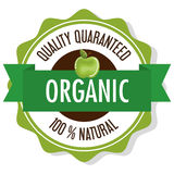 Organic product guaranteed seal. Illustration design Royalty Free Stock Image