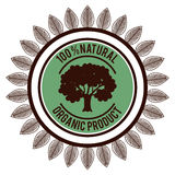 Organic product guaranteed seal Royalty Free Stock Images