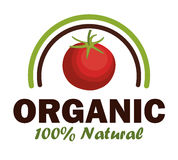 Organic product guaranteed seal Stock Photography