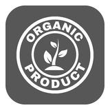 The organic product icon. Eco and bio, ecology symbol. Flat. Vector illustration. Button Stock Photography