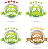 Organic product icons Stock Images