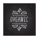 Organic - product label on chalkboard Royalty Free Stock Image