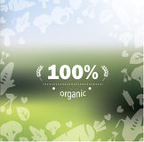 Organic product label template Stock Image