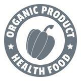 Organic product logo, simple style royalty free illustration