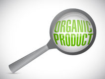 Organic product magnify glass illustration design Royalty Free Stock Photography