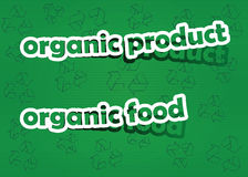 Organic product and organic food. Realistic cut, takes the background color Stock Photo