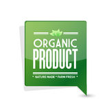 Organic product pointer sign illustration design Royalty Free Stock Photo