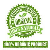 Organic Product Rubber Stamp. On white background Stock Photos