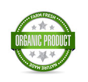 Organic product seal illustration design Stock Photo