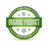 Organic product seal illustration design Stock Photo