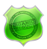 Organic product shield guaranty Royalty Free Stock Image