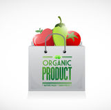 Organic product shopping bag illustration design Stock Photography