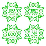 Organic product stickers Royalty Free Stock Image