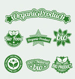 Organic Product Tags Stock Image