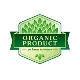 Organic product vector emblem. Vector illustration Stock Image