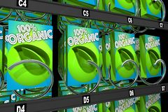 Organic Products Boxes Food Snack Vending Machine 3d Illustratio. N Royalty Free Stock Photos