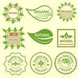 Organic products emblem, quality mark, logo Stock Images