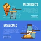 Organic products horizontal website templates Stock Photos