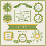 Organic products, labels, logo Stock Photography