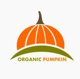 Organic pumpkin logo Stock Image