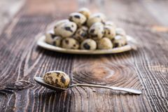 organic quail eggs royalty free stock photography
