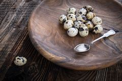 organic quail eggs stock photography