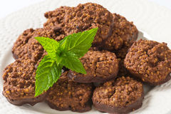 Organic Quinoa Chocolate Cookies royalty free stock images