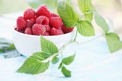Organic raspberry Royalty Free Stock Photography