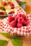 Organic raspberry fruits from local farm Royalty Free Stock Image