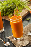 Organic Raw Carrot Juice Royalty Free Stock Photos