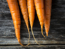 Organic Raw Carrots Closeup Royalty Free Stock Photos