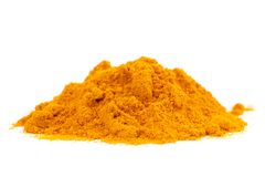 Organic Raw Curcumin Spice Stock Images