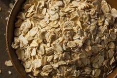 Organic Raw Dry Oats Royalty Free Stock Photography