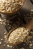 Organic Raw Dry Oats Stock Image