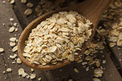 Organic Raw Dry Oats Stock Images