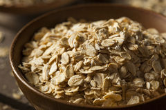 Organic Raw Dry Oats Royalty Free Stock Images