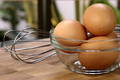 Organic raw eggs Royalty Free Stock Photos