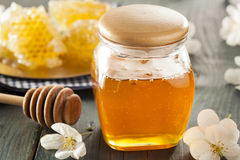 Organic Raw Golden Honey Comb. On a Background Royalty Free Stock Images