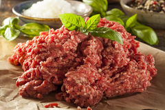 Organic Raw Grass Fed Ground Beef Royalty Free Stock Image