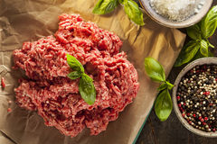 Organic Raw Grass Fed Ground Beef Royalty Free Stock Photography