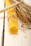 Organic Raw italian pasta and durum wheat Royalty Free Stock Images