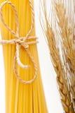 Organic Raw italian pasta and durum wheat Stock Photo