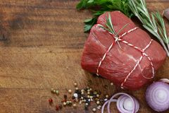 Organic raw meat Royalty Free Stock Photography