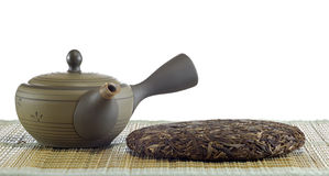 Organic raw Puer tea Chinese Royalty Free Stock Photography