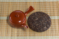 Organic raw Puer tea Chinese Royalty Free Stock Image