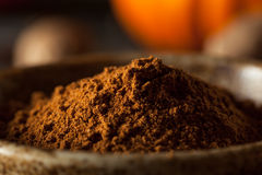 Organic Raw Pumpkin Spice. With Cinnamon Allspice Nutmeg and Ginger Stock Photography