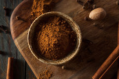 Organic Raw Pumpkin Spice. With Cinnamon Allspice Nutmeg and Ginger Royalty Free Stock Photos